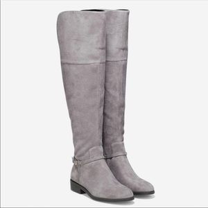 Cole Haan | Valentia Suede Gray Over the Knee Boot